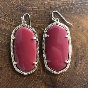 Kendra Scott Large Red Earrings